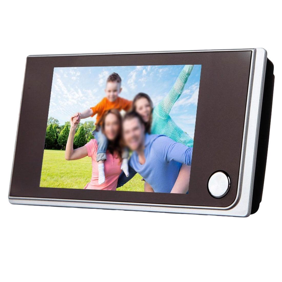 Nouveau numérique sonnette LCD couleur écran 120 degrés judas visionneuse porte oeil sonnette Mini extérieur couleur caméra