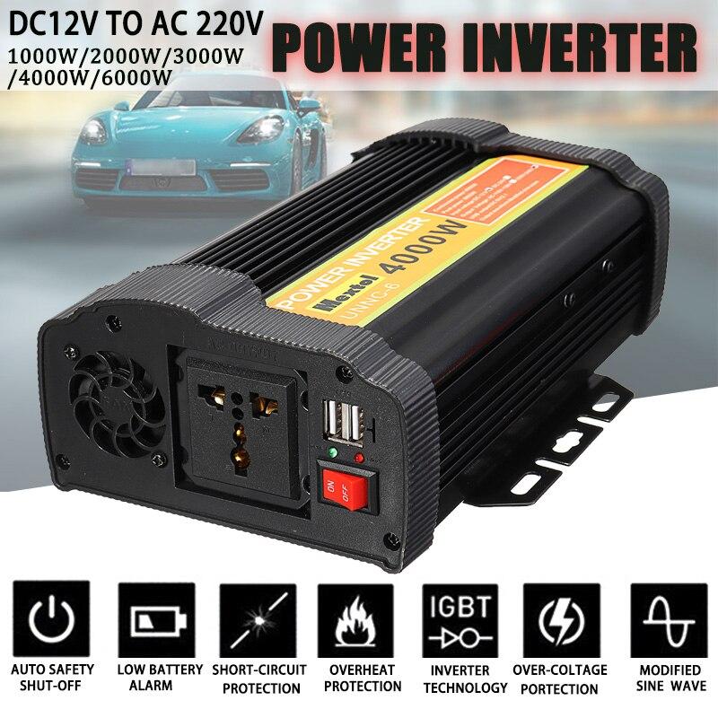 Solaire Onduleur 2000/6000/8000/12000 w Pics 12 v 220 v Onde sinusoïdale Modifiée Tension transformateur Convertisseur Charge De Voiture USB
