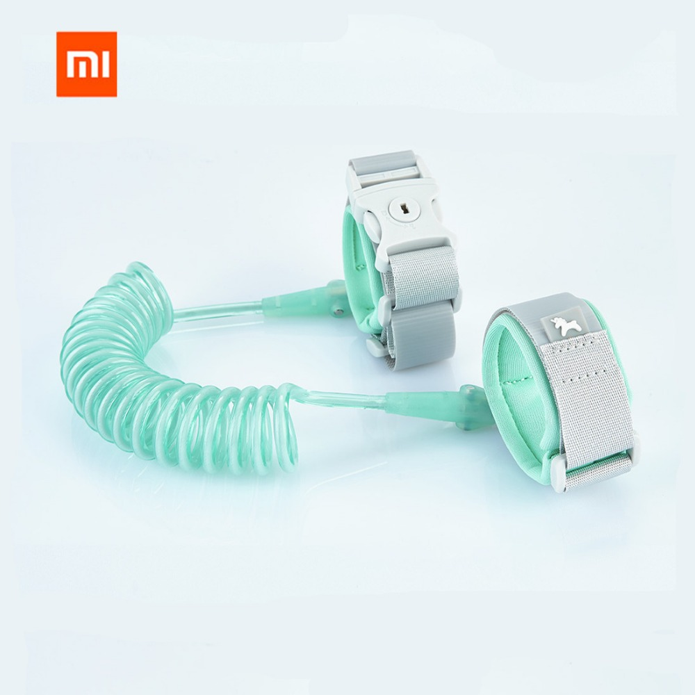New Arrived Xiaomi Mijia 2M Anti-lost Strap Bracelet Safety Adjustable Baby Kids Children Traction Rope Wristband 63