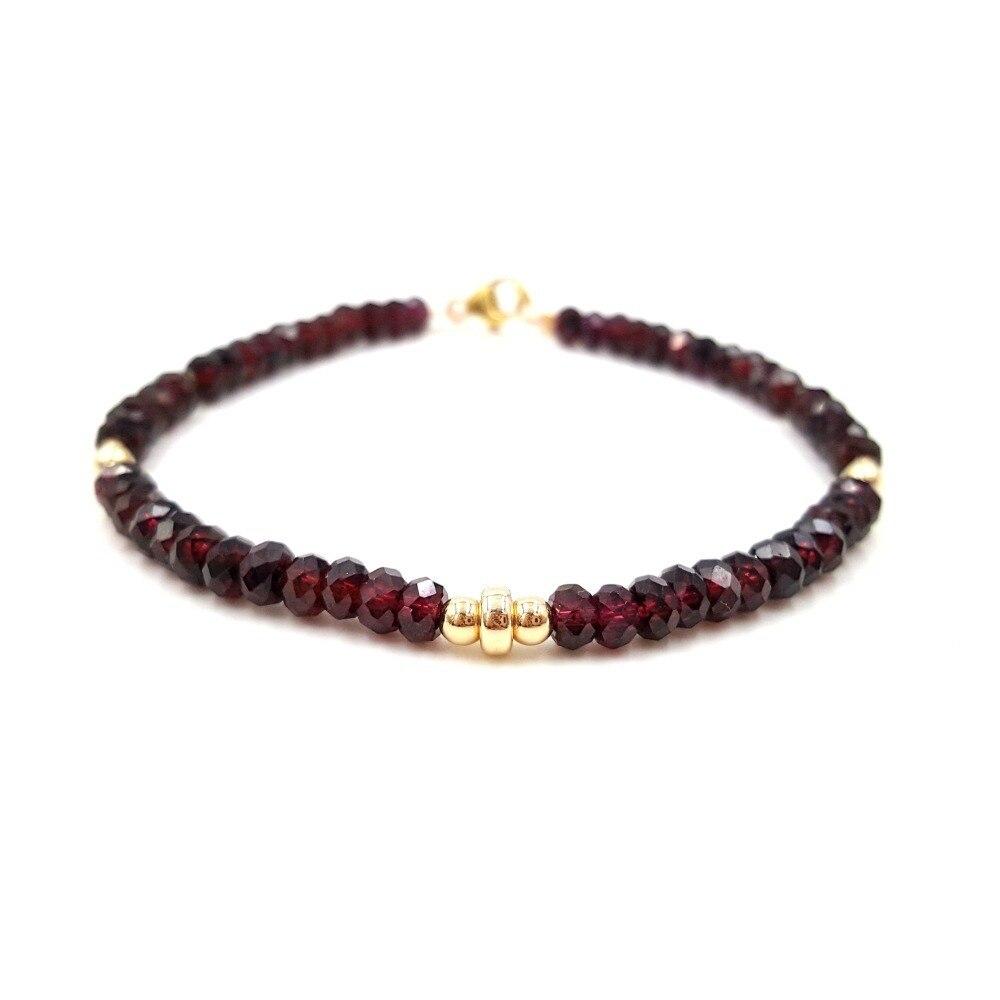 Lii Ji péridots grenat Tanzanites Bracelet pierre naturelle 925 argent Sterling couleur or étincelant bijoux délicats
