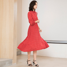 French retro chiffon dress summer knee-length spring and GC1013