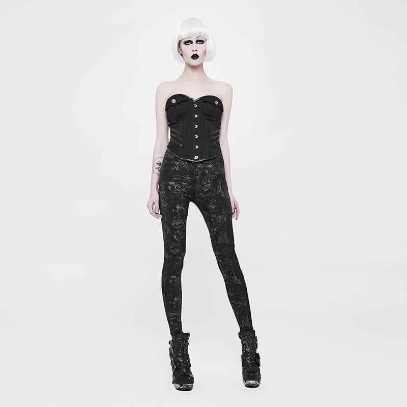 Punk Rave Nữ Grunge Goth Quần Legging WK-326DDF