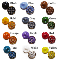 ZIEENE 1000 pcs 12 Colors Kids Acryl Crystal Buttons Rhinestones Golden Edge Sewing Scrapbooking For Shirt Handmade Baby Button