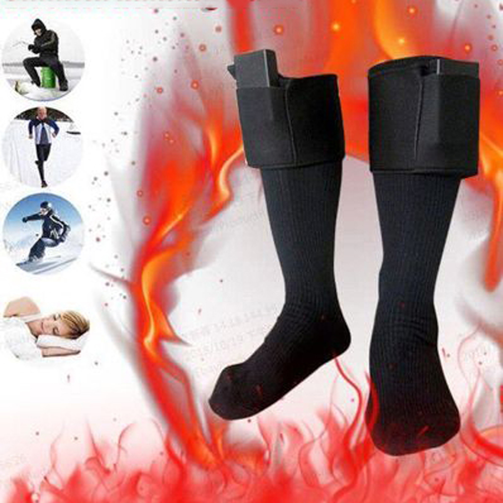 Thicken Warmer Socks Electric Heated Socks Rechargeable Battery For Women Men Winter Outdoor Skiing Cycling Sport Heated Socks