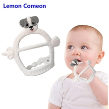 Lemon Comeon 1Pc Dog Silicone Teether Perle Animaux Bead Adjustable Infant Nursing Chew Teething Toy Baby Gift
