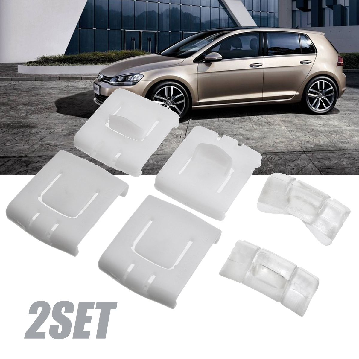 2 Sets 6Pcs Seat Rail Clip Guide Runner Piece 435881203A Plastic Car Seat  Buckle Fastener Clips For VW Golf MK1 MK2 MK3 Corrado-in Auto Fastener &  Clip from ...