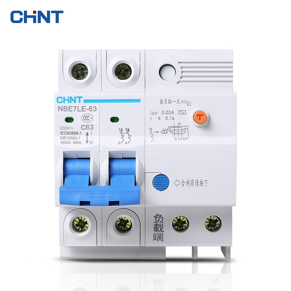 Chint Leakage Protection Three Phase Circuit Breaker Nbe7le 3p 63a 32a 2p Transparent Residual Current Diy Electricals Chnt Electric Shock Switch Home Air C63