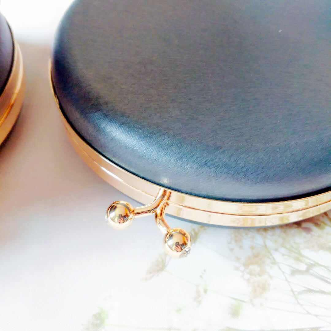 Mouth Golden Box Round Bronze Golden Silver Round Case Mouth 18 Gold Centimeter Full Package Send Paper Type Send Course