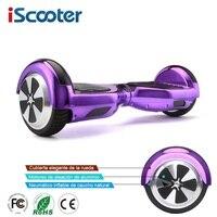 Iscooter Hoverboard Bluetooth 6,5 Дюймов Электрический скейтборд гироскутер гироскоп электрический скутер стоя скутер