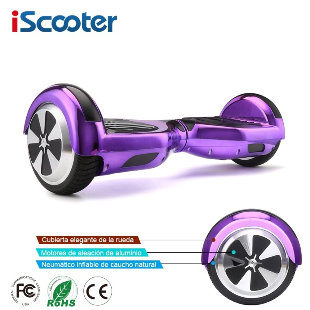 Iscooter Hoverboard Bluetooth 6.5 Pouces skateboard électrique Hover Bord Gyroscope trottinette électrique Debout Scooter
