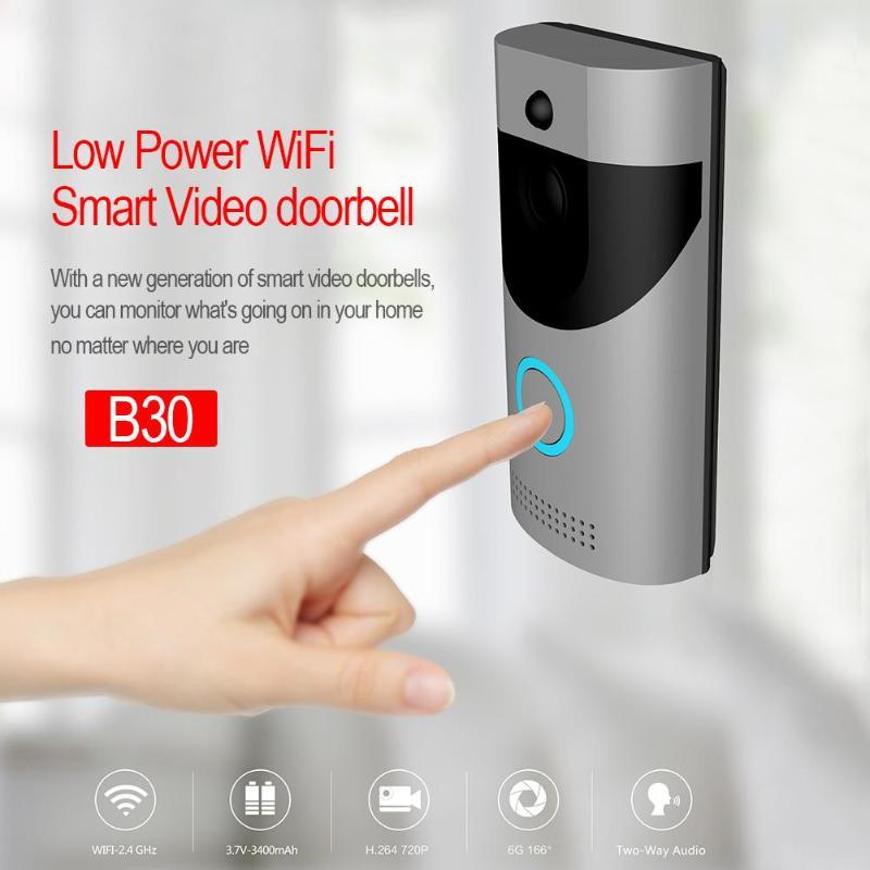 Wi Fi видео дверные звонки камера домофон системы беспроводной дома IP дверной звонок телефон с ПИР полный дуплекс iOS Android Батарея питан