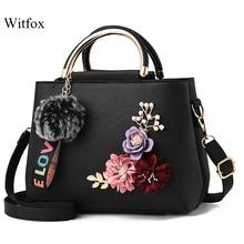 Witfox 3D Appliques handbags for women with metal handles LOVE tassel ladies shoulder bags china sale street wear