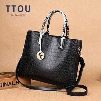 02d6800d20eb TTOU женские сумки с кисточками Змеиный верх-ручка сумка качество из искусственной  кожи женские сумки на плечо женские сумки-мессенджеры Sac