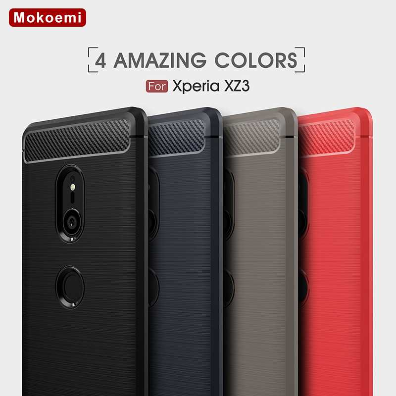Mokoemi Fashion Shock Proof Soft Silicone 5 7 quot For Sony Xperia XZ3 Case For Sony Xperia XZ3 cell Phone Case Cover in Fitted Cases from Cellphones amp Telecommunications