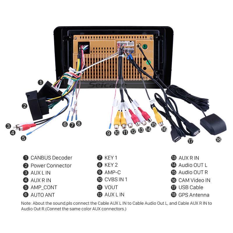 Seicane アンドロイド 8.1 カーマルチメディアプレーヤー 2Din GPS 2005 2006 2007-2012 メルセデスベンツ Ml クラス W164 ML350 ML430 ML450 ML500