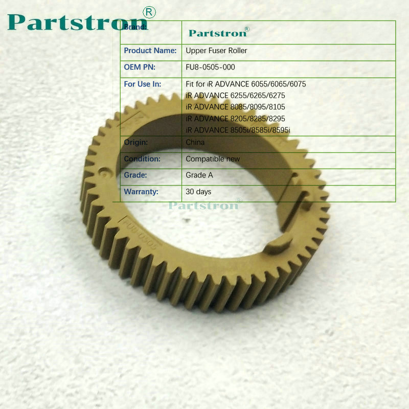 Pastron Upper Fuser Roller FU8-0505-000 Fit For Canon 8105 8095 8205 8295 8285 6055 6065 6075 6255 6065 6075 8505i  8585i