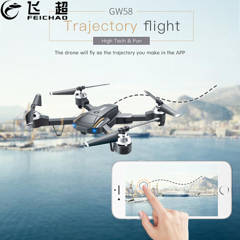 Mini GW58 Foldable Selfile Drone FPV 0.3MP 2.0MP HD Camera Pocket Quadcopter Remote and WiFi Control Aircraft Drone vs JD20S feichao mini gw58 foldable selfile drone fpv 0 3mp 2 0mp hd camera pocket quadcopter remote and wifi control aircraft drone