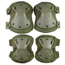 VIM Outdoor 4Pcs Military Army Tactical Knee Pads Elbow Climbing Runing Ski Cycling CS Pad Protector Hard Work Safety