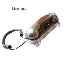 Retro Caller Flash Phone Antique Telephones Fashion Hanging Mini Telephone Wall Mounted ID Fixe Telefonos De Casa
