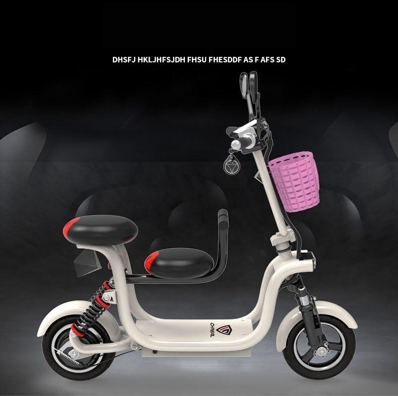 Vélo électrique scooter parent-enfant adulte femme petite batterie voiture mini étape par étape conduite voiture électrique pliante