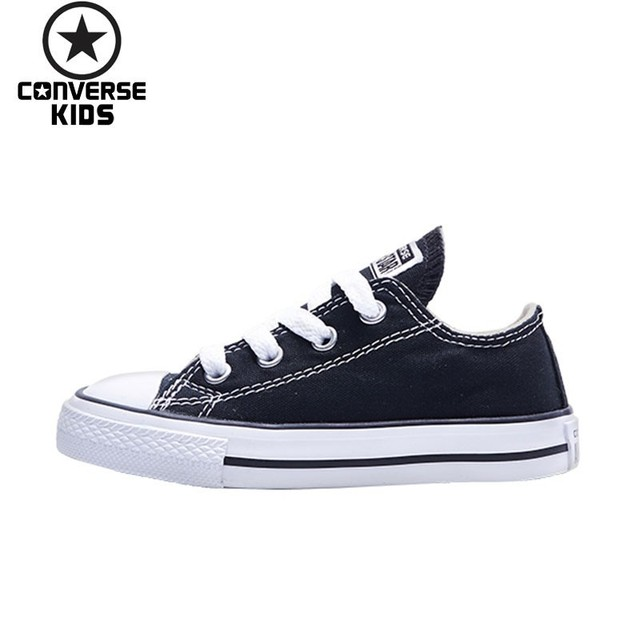 CONVERSE Children s Shoes Low Help Canvas Black Evergreen Fund Girl White  Canvas Children Shoes  7J23-5C 6C 7C 7J256C c6e455ccd