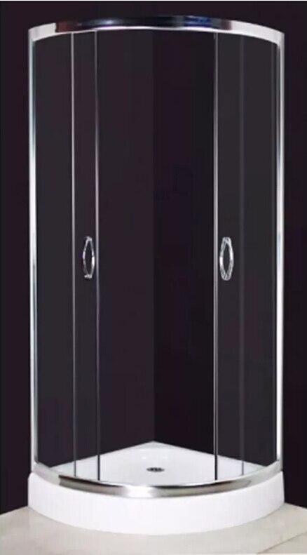 vidaXL modern Shower Enclosure 80x80cm Curved with slick design Bathroom Wall Against Steam Shower easy clean