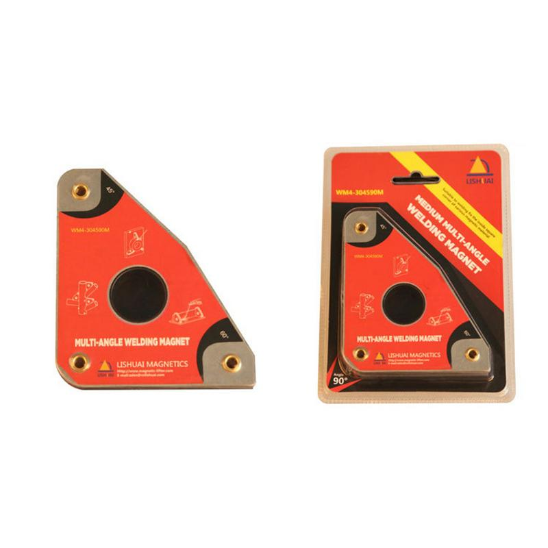 2 Pcs Magnetic Welding Holder Magnetic Welding Square,Multi-Angle Welding Magnets Holder 30/°60/°45/°90/°)Welding Tool, for Brazing, Soldering and Welding Applications