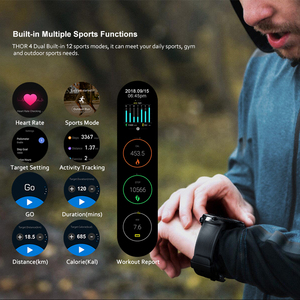 "Image 4 - Zeblaze THOR 4 Dual Smart Watch 4G LTE Android Quad Core 1GB+16GB Dual Camera 1.4"" AOMLED GPS/GLONASS WiFi Heart Rate Smartwatch"