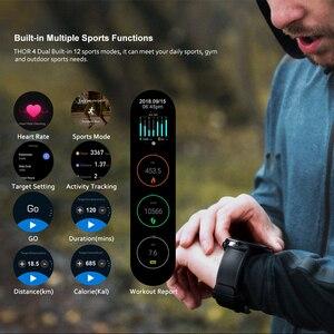 Image 4 - ساعة Zeblaze THOR الذكية المزدوجة 4G LTE, أندرويد رباعية النواة 1 جيجا بايت + 16 جيجا بايت ، كاميرا مزدوجة 1.4 بوصة AOMLED GPS/GLONASS واي فاي معدل ضربات القلب ، ساعة ذكية