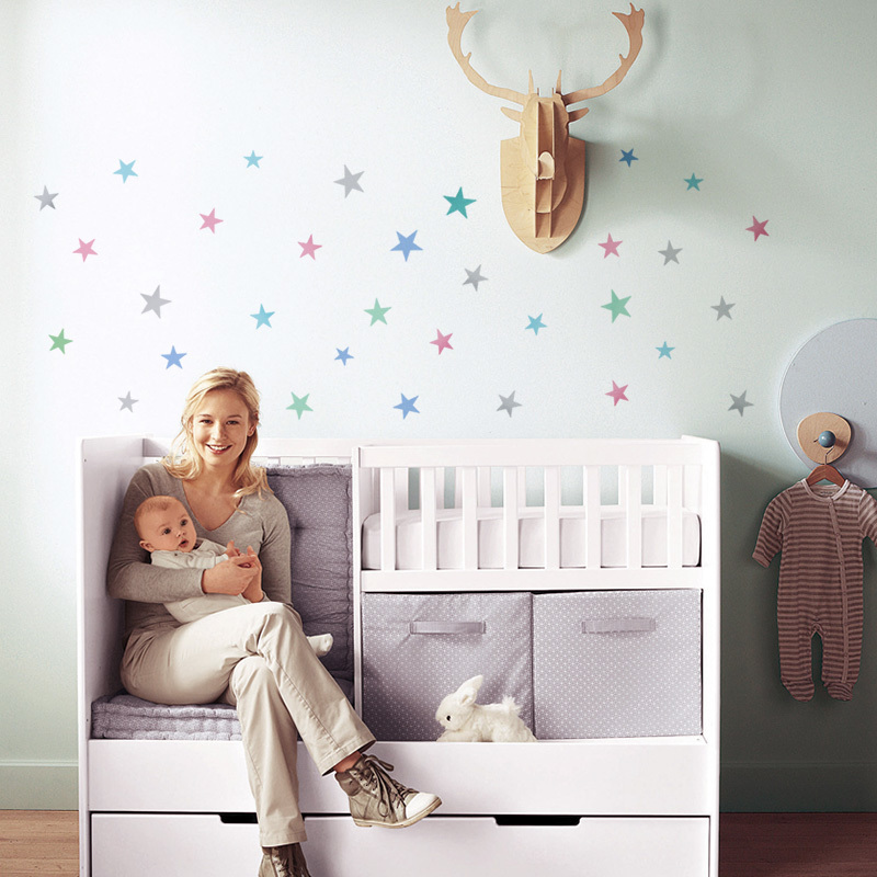 Stars Wall Sticker For Kids Room Home Decoration Baby Nursery Bedroom Children Wall Decals Art Wall Stickers Wallpaper