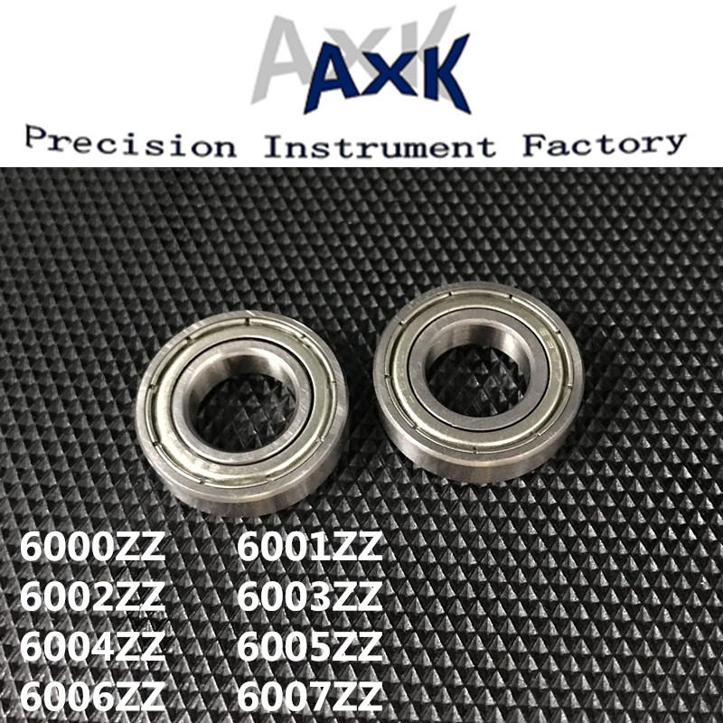 Axk Lot/ 5pcs 6000zz 6001zz 6002zz 6003zz 6004zz 6005zz 6006zz 6007zz Deep Groove Metal Sealed Ball Bearing Roulement A Bille