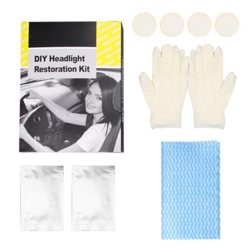 Car-Headlights-Restoration-Kit Cleaning Refresh-Tool DIY Lens-Polish Uv-Protective-Kits