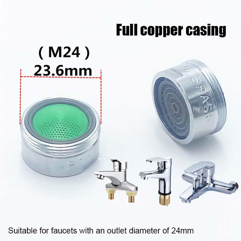 10 шт. водосберегающий аэратор для крана 2L Minute 24 Male 22 мм Женский размер резьбы устройство для крана барботер HB