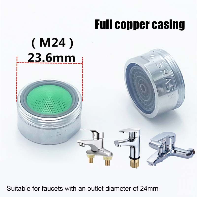 10pcs Water Saving Faucet Aerator 2L Minute 24 Male 22mm Female Thread Size Tap Device Bubbler HB