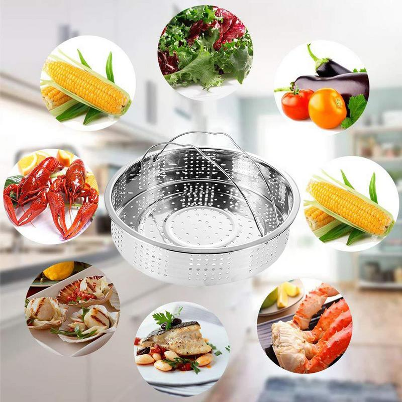 304 Stainless Steel Steamed Set Steamer With Egg Steamer Frame Separator Stainless Steel 3 PCs / Set Pressure Cooker Accessories