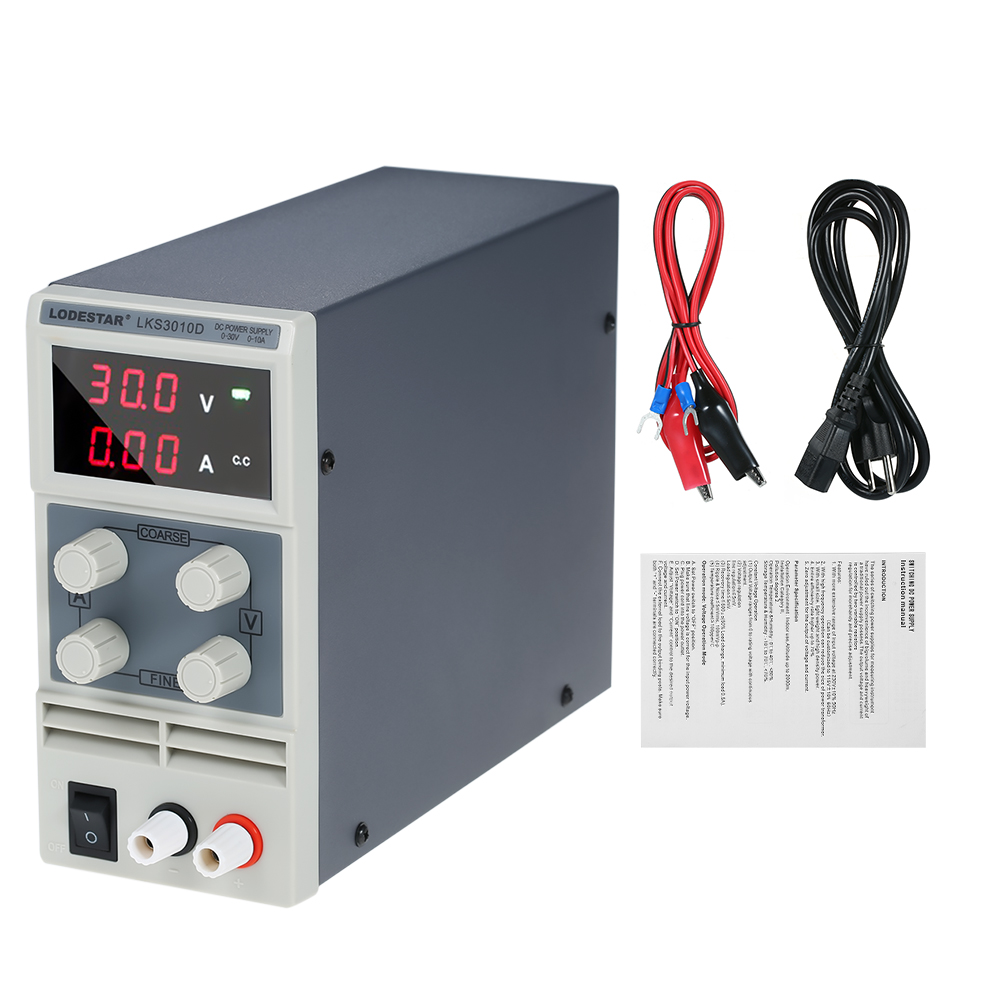 Switching DC Power Supply 3 Digits Display LED 0-30V 0-10A High Precision Adjustable Mini Power Supply AC 110V/220V 50/60Hz 1200w wanptek kps3040d high precision adjustable display dc power supply 0 30v 0 40a high power switching power supply