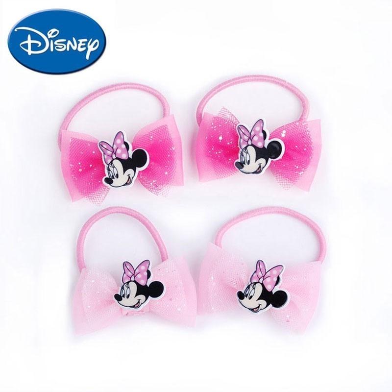 Disney Hair Bands 2pcs/lot  Cartoon Minnie Headwear  Baby Children Accessories Hair Ring  Cute Hair Rope Lovely Gift For Girls