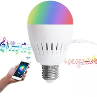 CLAITE E27 RGBWW bluetooth Speaker LED Bulb 8W Color Changing Music Wireless Wireless LED Light Bulb AC100 240V