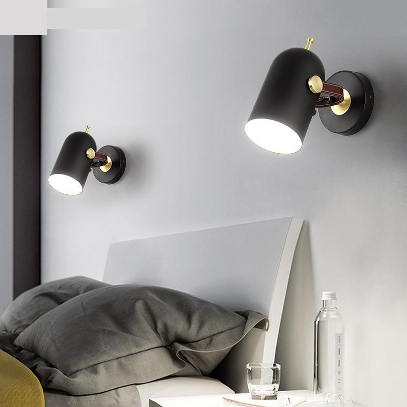 Northern Europe Rotating iron wall sconce lighting for Bedroom Bedside Reading Room Parlor Led wall fixtures Nordic Wall Lamp|Wall Lamps| |  - title=