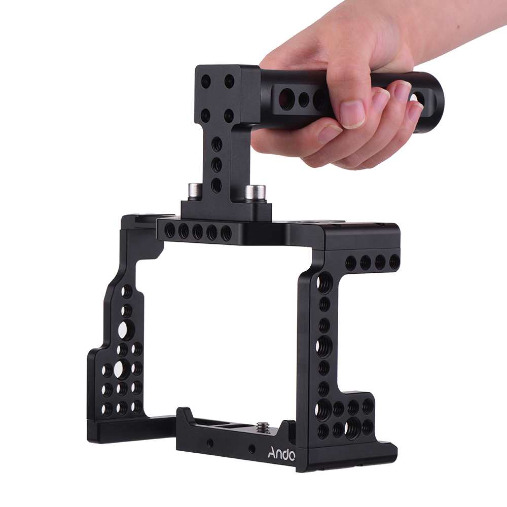 Andoer Camera Cage Top Handle Kit Video Stabilizer with Cold Shoe Mount for Sony A7II SII
