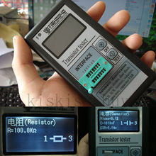 Draagbare Mega328 12864 LCD grafische display ESR Meter Transistor Tester Capaciteit Inductie Diode Triode MOS NPN + CASE