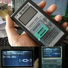 Mega328 portátil 12864 LCD pantalla gráfica medidor ESR Transistor Tester capacitancia diodo triodo MOS NPN + funda