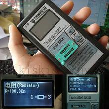 Taşınabilir Mega328 12864 LCD grafik ekran ESR Metre Transistör Test Cihazı Kapasitans Endüktans diyot triyot MOS NPN + KıLıF