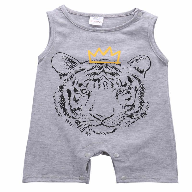 Newborn baby boy infant baby bodysuit full body pajamas suit clothes Baby Bodysuit O-neck Sleeveless Cotton Summer Baby Clothes