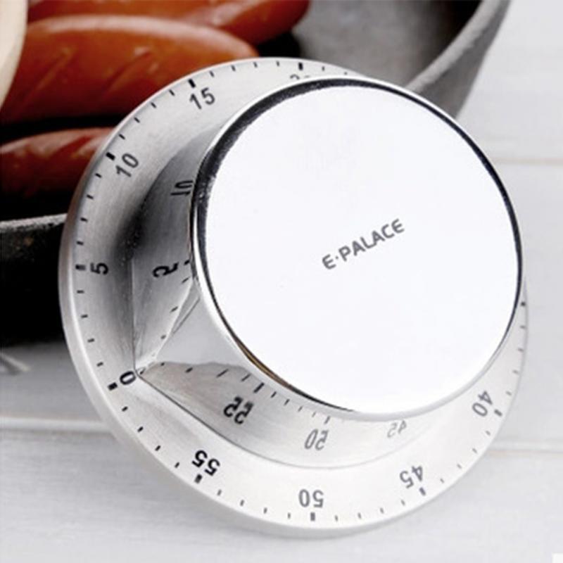 1 pc Rodada de Aço Inoxidável Da Cozinha Temporizador Despertador Lembrete Timer de Cozinha Magnética Multifuncional Cozinha Gadget Hot Venda Nova
