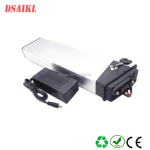 Free shipping 500W 750W MTB Electric bike Folding lithium battery pack 48V 14Ah hidden ebike battery with 54.6V 2A charger good rear rack ebike battery 48v 500w electric bike battery 48v 8ah lithium battery with controller box and free charger