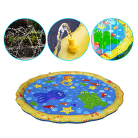 Swimming pool baby wading kiddie squirt fun pool outdoor squirt&splash water spray mat for toddlers Baby simple instant set up