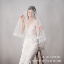 Nueva llegada velo De boda blanco De dos capas codo longitud velo De novia con peine barato accesorios De boda Veu De Noiva longo
