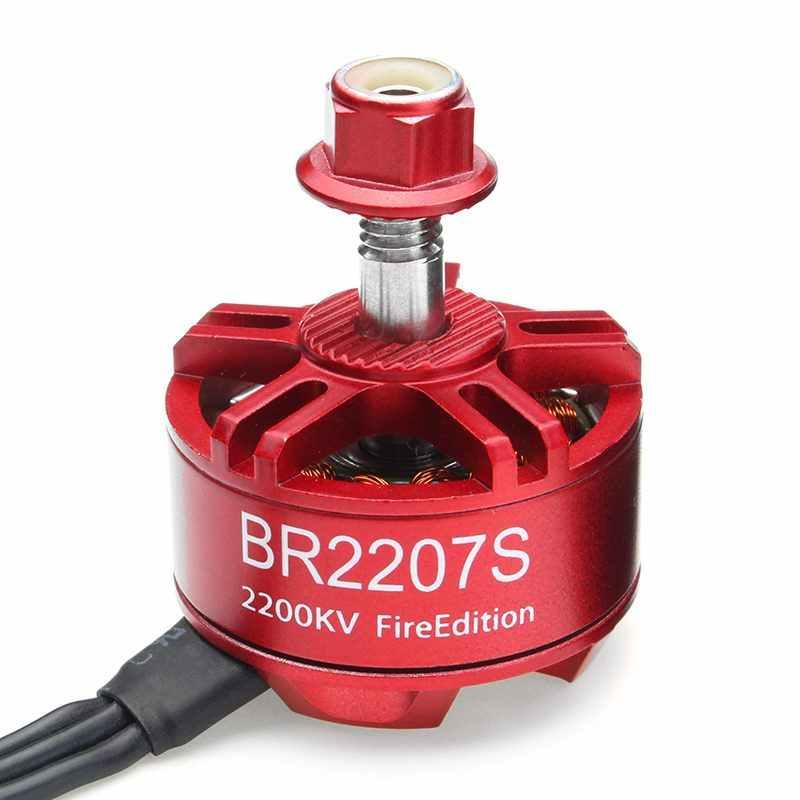4 piezas Racerstar 2207 BR2207S edición 1600KV 2200KV 2500KV 3-6 S Motor sin escobillas para RC Drone marco repuesto parte ACC
