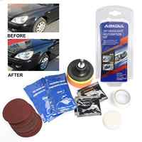 Yellow Off Headlight Lens Cleaner Restoration Wipe Shine Polisher DIY Restorer Car Repair Combination Suit